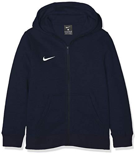 Nike Kinder Y Hoodie Fz Flc Tm Club19 Kapuzenjacke , Blau (obsidian/obsidian/white/(white) , S