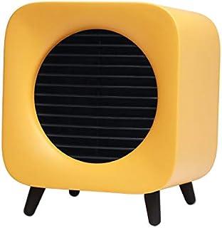 DGEG Calefactor, Mini Termoventiladores, luz de Noche cálida Creativa Junto a la Cama de Escritorio con USB (Color : Amarillo)