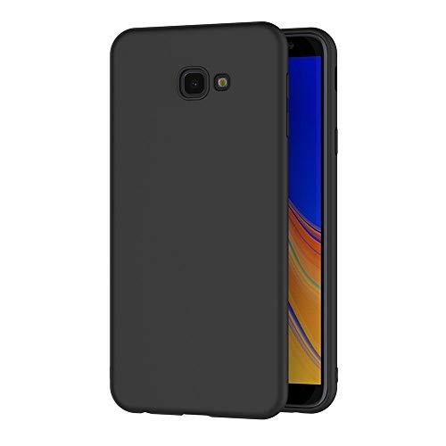 AICEK Funda Samsung Galaxy J4 Plus, Negro Silicona Fundas para Samsung Galaxy J4+ Carcasa Galaxy J4 Plus Negro Silicona Funda Case (6,0 Pulgadas)