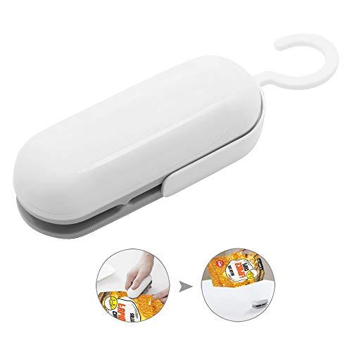 Hand-Folienschweißgerät, Tragbare Mini Handy-Sealer, 2 in 1 Mini Folienschweißgerät Handlicher, zum Verschließen von Frischhaltebeutel oder Chipsparer, (Batterie nicht im Lieferumfang enthalten)
