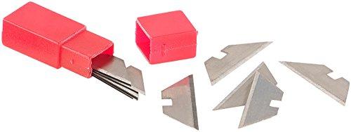 AGT Zubehör zu Cutter-Messer: 10 Ersatzklingen für Profi-Mini-Cuttermesser mit Klappsystem, 30 mm (Teppich-Messer)