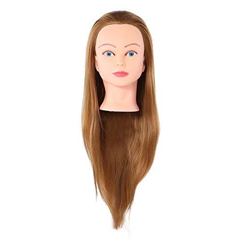 75cm Brown Têtes d'exercice Tête À Coiffer Professionnelle - Cosmétologie Pratique Mannequin Poupée 100% de Cheveux Synthétiques + Peigne (468R)