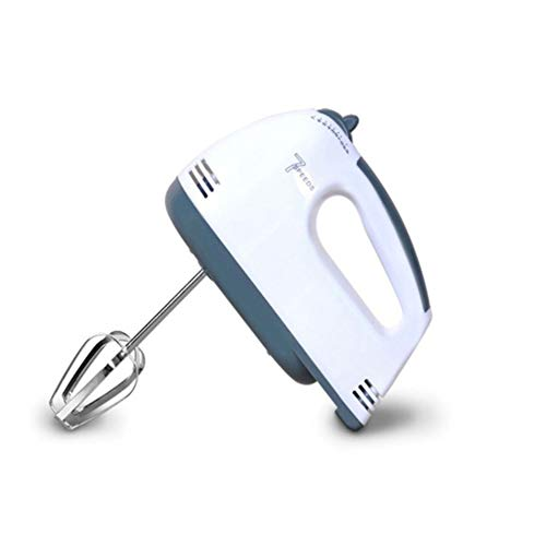 7-Speed ​​Electric Hand Mixer, Mixer Klopper Van Het Ei Slagroom Bakken Cake Met Chrome Beater Deeghaak 250W, White