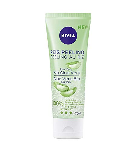 NIVEA Reis Peeling Bio Aloe Vera, natürliche Gesichtsreinigung mit hoher Peeling-Intensität,...