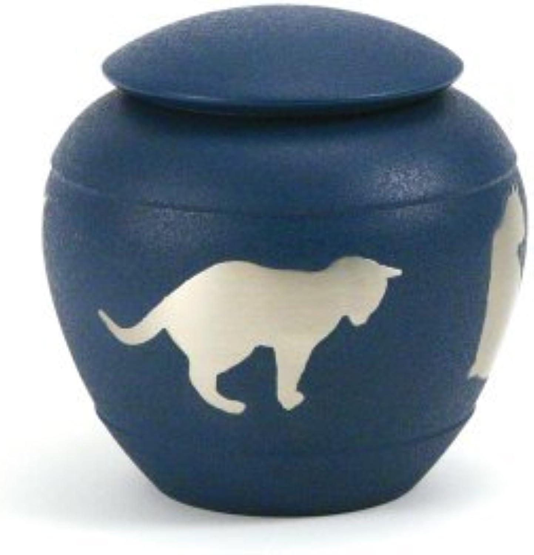 Near & Dear Pet Memorials Silhouette Cat Urn, Country bluee by Near & Dear Pet Memorials