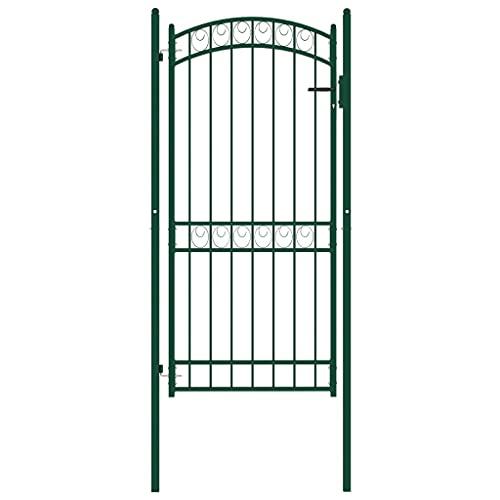 Puerta de jardín, puerta abatible de metal Puerta de valla exterior Puerta...