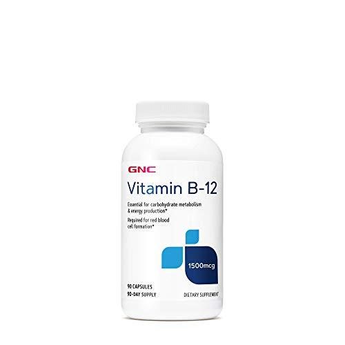 GNC Vitamin B-12 1500mcg, 90 Capsules, Supports Energy Production