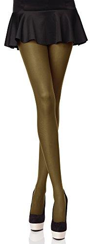 Merry Style Bunte Damen Strumpfhose Microfaser 40 DEN (Khaki, 5 (44-48))