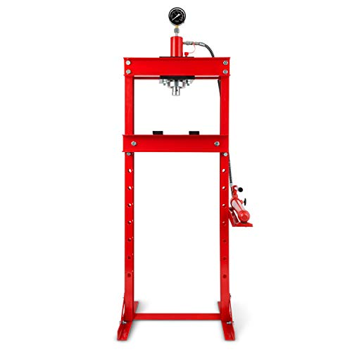 EBERTH 20t Werkstattpresse mit Manometer (2 Auflagebacken, Arbeitshöhe 820 mm 8-fach verstellbar, Arbeitsbreite 425 mm)