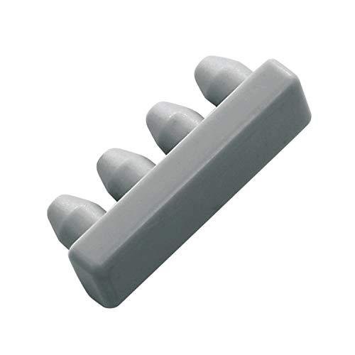 Gardinia Endstück für Aluminium-Vorhangschiene 1-läufig grau, Zutreffend, 2