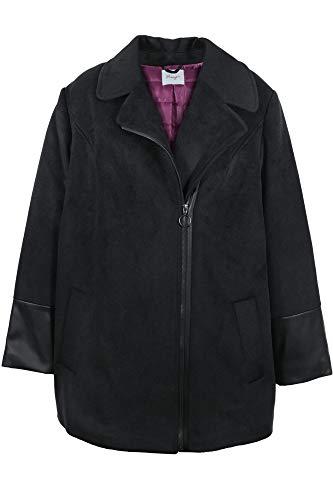 Sheego Mantel Kurzmantel Wintermantel Wollmantel Jacke Damen Plusgröße, Farbe:schwarz, Damengrößen:46
