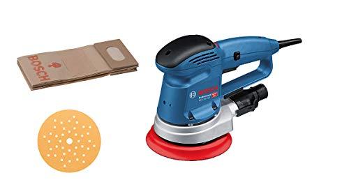 Bosch Professional Exzenterschleifer GEX 34-150 (inkl. Schleifteller-⌀ 150 mm, Schleifblatt C470 für Holz, Absaug-Adapter, Papierstaubbeutel, im Karton)