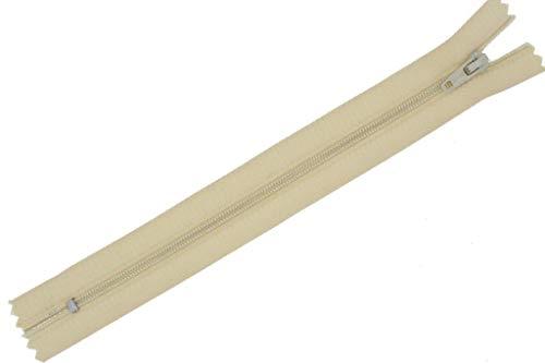 zipworld Fermeture éclair en nylon disponible en 31 couleurs et 18, 20, 22, 30, 40, 50, 60 cm au choix (31 pièces - Beige clair (307), 30 cm).