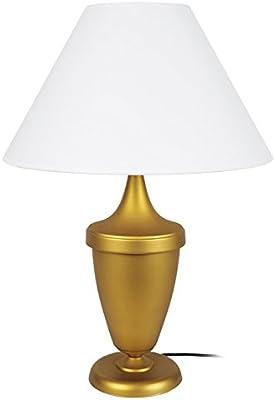 Tosel 64356 Kartago Lampada in vetro soffiato, in cotone, colore: oro, 400 x 540 mm