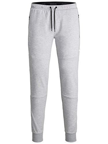 Jack & Jones JJIWILL JJAIR Sweat Pants Noos NB Pantalon de Jogging, Mélange de Gris Clair, L Homme