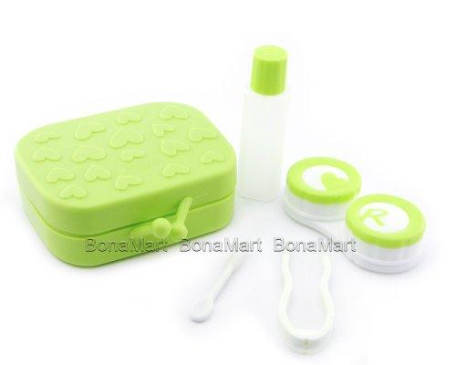 Nette Reisen farbige Kontaktlinsen Behälter monatslinsen kontaktlinsenbehälter (Green)