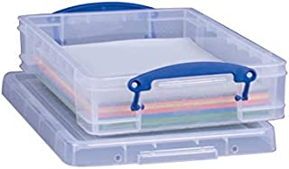 Really Useful 6663108 Stackable Clear Storage Box44; 3.37 x 10.25 x 14.5 in. - Pack of 4