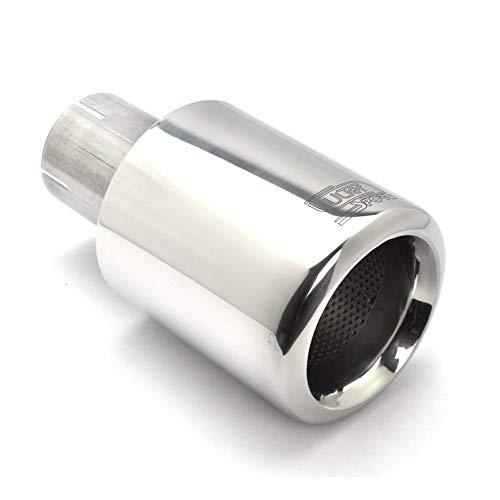 Auspuffblende Endrohr 90mm Ulter NS1-90-1 Edelstahl bebürstet 65mm Anschluss
