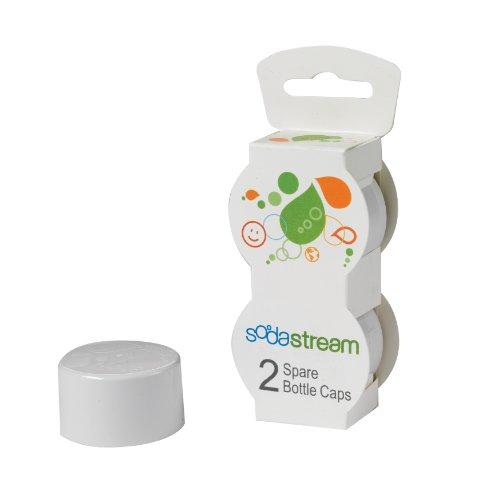 SodaStream Tampas de garrafa, branco, pacote com 2