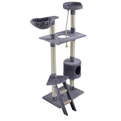 NYDZDM Cat boom plafond hoge kat kitten krabpaal klimmen toren huisdier zacht spelen huis platform