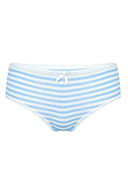 MSemis Woman s Anime Japanese Cosplay Underwear Striped Cute Cheeky Panties Low Rise Bikini Briefs Knicker Light Blue Medium