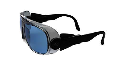 IGUANA CUSTOM CLOTHES Gafas fotocromáticas estilo vintage de protección para moto, bici, montaña, seguridad, lentes policarbonato irrompibles, tratamiento anti-vaho, se oscurecen con el sol (Azul)