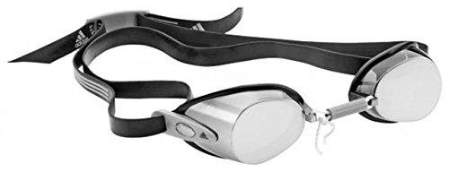 adidas Herren Hydronator verspiegelte Einteilige Schwimmbrille Brillen, Smolen/Black/Grau, One Size