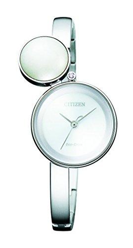 Citizen Damen Analog Quarz Uhr mit Edelstahl Armband EW5490-59A