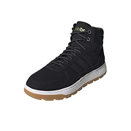 Adidas Men's Blizzare Basketball Shoe, Black/Black/Matte Gold, Numeric_8_Point_5