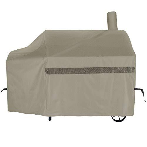 icover 152,4cm schwere Premium Classic Outdoor BBQ Barbecue versetzten Smoker Abdeckung für Weber Char-Broil Brinkmann Nexgrill khaki