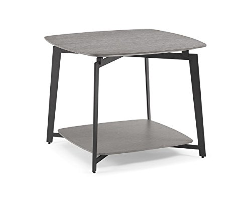 Whiteline Modern Living Mavis Side End Occasional/Modern Table, Medium/One Size Gray