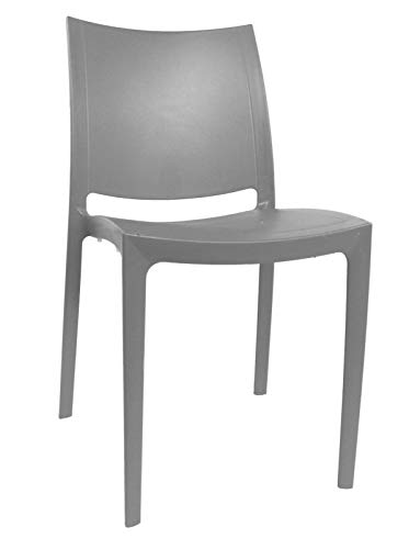 Olympus Chair Chairs Plastic Office/Home/Garden/Party/Reception/Living Room (Grey)