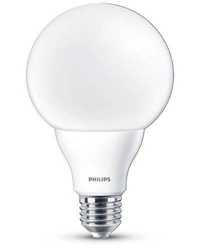Philips Ampoule LED Globe Culot E27, 9,5W équivalent 60W, Blanc Chaud 2700K, Dépolie