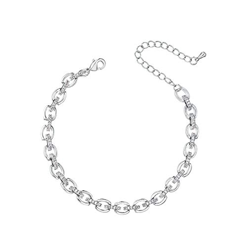 N Bracelet jewelry Arrival Exquisite Cubic Zirconia Crystal Link Tennis Bracelets for Women Brides or Party Jewelry Valentines Day present