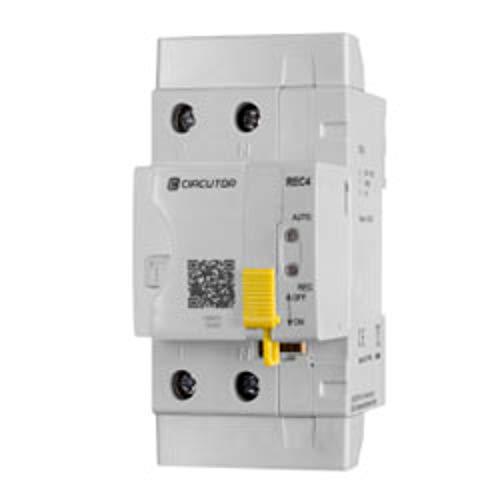 Circutor REC4 2P-40-30 Interruptor diferencial rearme automático, Blanco