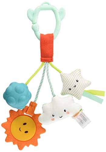B. toys – Baby Toy – Sensory Baby Rattle – Hanging Toys for Car Seat, Stroller, Crib, Play Gym – Soft & Crinkly – Fun Activity for Infants, Babies – Dreamy Rattle – 0 Months +, Various (BX1757Z)