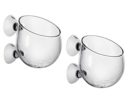 SCSpecial Tazas para Plantas acuáticas 2 Piezas Maceta de Cristal con 2 ventosas para decoración de acuarios