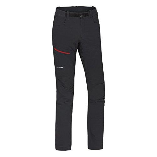 NORTHFINDER Micah, Pantaloni Uomo, Black/Red, 2X-Large