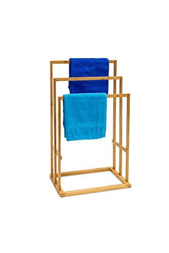 Bambus Handtuchhalter 40 x 24,5 x 82 cm Handtuchständer Handtuchstangen Badetuchhalter Stummer Diener