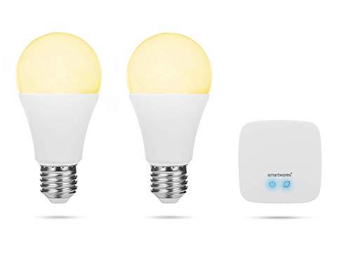 Smartwares Smart Home Pro | Leuchtmittel Set inklusive Basistation, steuerbar via gratis HomeWizard Link App | Alexa kompatibel