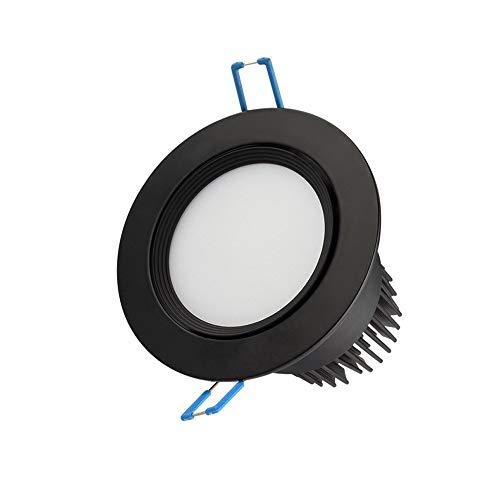 Sunny Lingt Luz empotrada Foco LED Downlight Lámpara de techo, Negro panel redondo lámpara colada de la pared - IP...