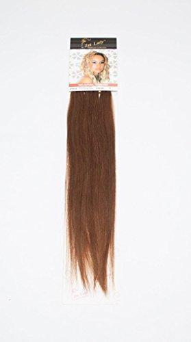 1st Lady soyeux droites Naturel européen 3 pcs extension de cheveux humains à clipser avec Premium Blend, numéro 5, Medium Marron, 45,7 cm 28 g