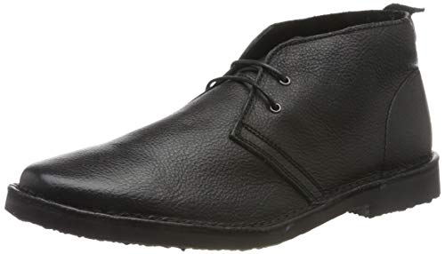 JACK & JONES Herren JFWGOBI Leather Desert Boots, Schwarz (Black Black), 44 EU