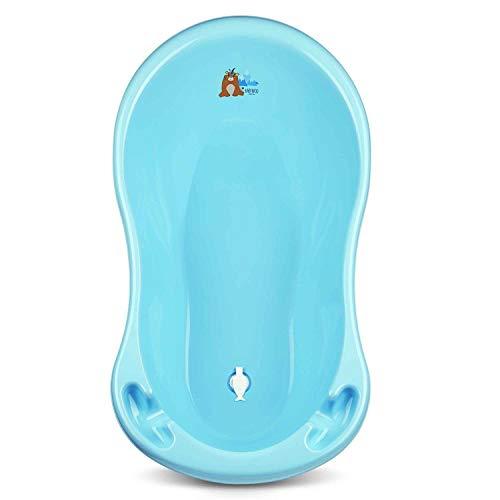 Babykajo Baby Badewanne mit Stöpsel – Baby Wanne aus BPA freiem Plastik und 86 cm Länge (Babybadewanne blau)