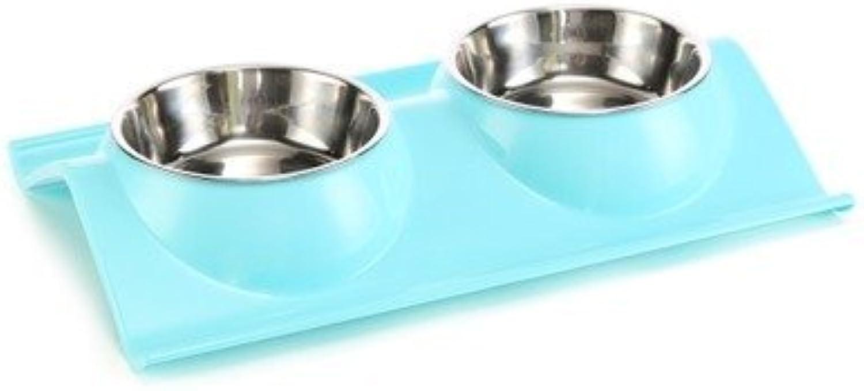 KTYX Leakproof Dog Food Pet Bowl Pet Stainless Steel Dog Bowl Plastic Dog Bowl Plastic Cat Bowl Dog Pot Pet Bowl (color   2)
