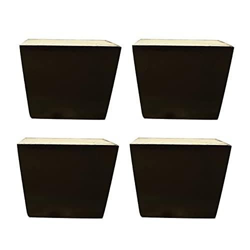 HIYU Pies de Repuesto para gabinete de Bricolaje, Patas de Soporte de Muebles cuadradas x4, Patas de Soporte de sofá, utilizadas para gabinetes, mesas de café, sofás, gabinetes de TV, 5-12 cm