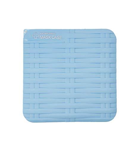 LEOROF Porta Mascherina di Alta Qualità Custodia Pieghevole in Plastica Rigida Leggera Varie Colorazioni (Blu Intrecciato)