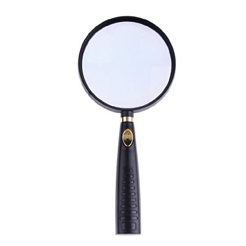 Qianqian56 Hoge Vergroting Vergroting 90mm Optische Glas Lens Middeleeuws Lezen Krant Tool Thuis Dagelijkse benodigdheden Handheld Vergrootglas