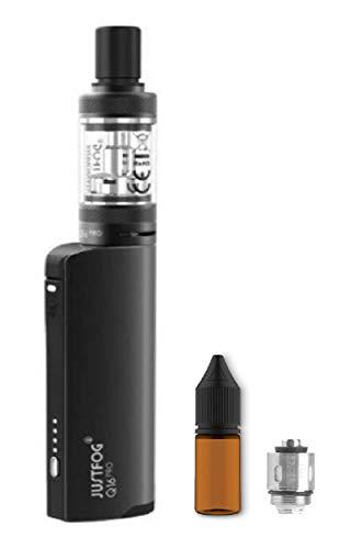 電子タバコ JUSTFOG Q16 pro KIT ヴェポライザー 加熱式たばこ ジャストフォグ スターターキッド リキッド専用 VAPE サービス品 交換用コイル ユニコーンボトル付き (Black)