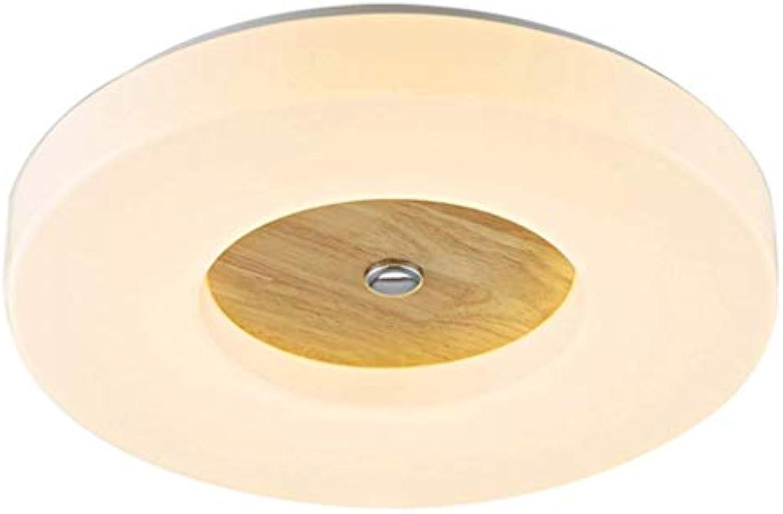 18W, 36W, LED Massivholz Einfache Moderne Wohnzimmerlampe, Runde Acrylatmosphre Nach Hause High-End-Deckenleuchte, Kreative Schlafzimmer-Balkon-Beleuchtung (gre   Weiß light X35CM)